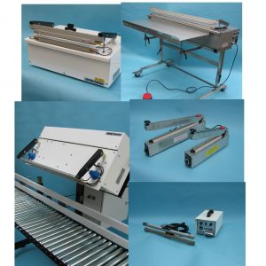 Semi Auto-matic Impulse Jaw Sealers.Vertical & Horizontal applications